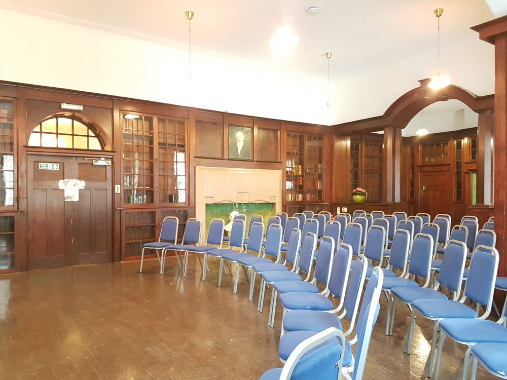 Dickens Library Meeting Room curved theathre style