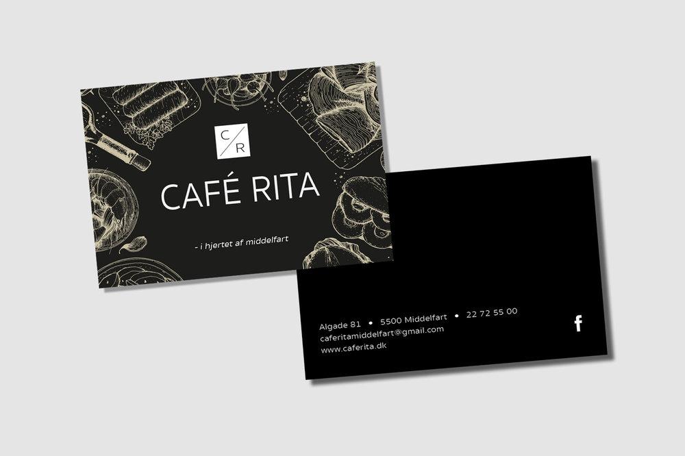 Rita visitkort - damhave design
