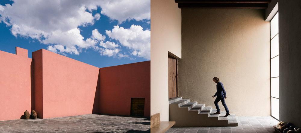 Après la visite de deux galeries d'art contemporain de la ville de Mexico, nous nous déplacerons vers un quartier au Sud de la ville pour déjeuner dans un restaurant dont plus de 90 % des ses ingrédients sont d'origine nationale et organique. Le chef Victor Zarate et son équipe propose un menu unique basé sur la culture mesoamericaine. On pourra y déguster des boissons ancestrales comme le Pox, la Raicilla, le Sotol, et bien sûr la Téquila et le Mezcal. Puis, juste à côté, nous visiterons une maison emblématique de l'architecte Luis Barragán, récemment rénovée par un important collectionneur d'art contemporain.