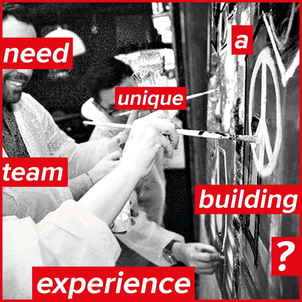 TEAM BUILDING - Festifs et conviviaux, fédérateurs et culturels, engagés et savoureux… ateliers de peinture en groupe pour cohésion d'équipe & sorties annuelles d'entreprise.Plébiscité par les entreprises qui collectionnent ou sponsorisent l'art contemporain!