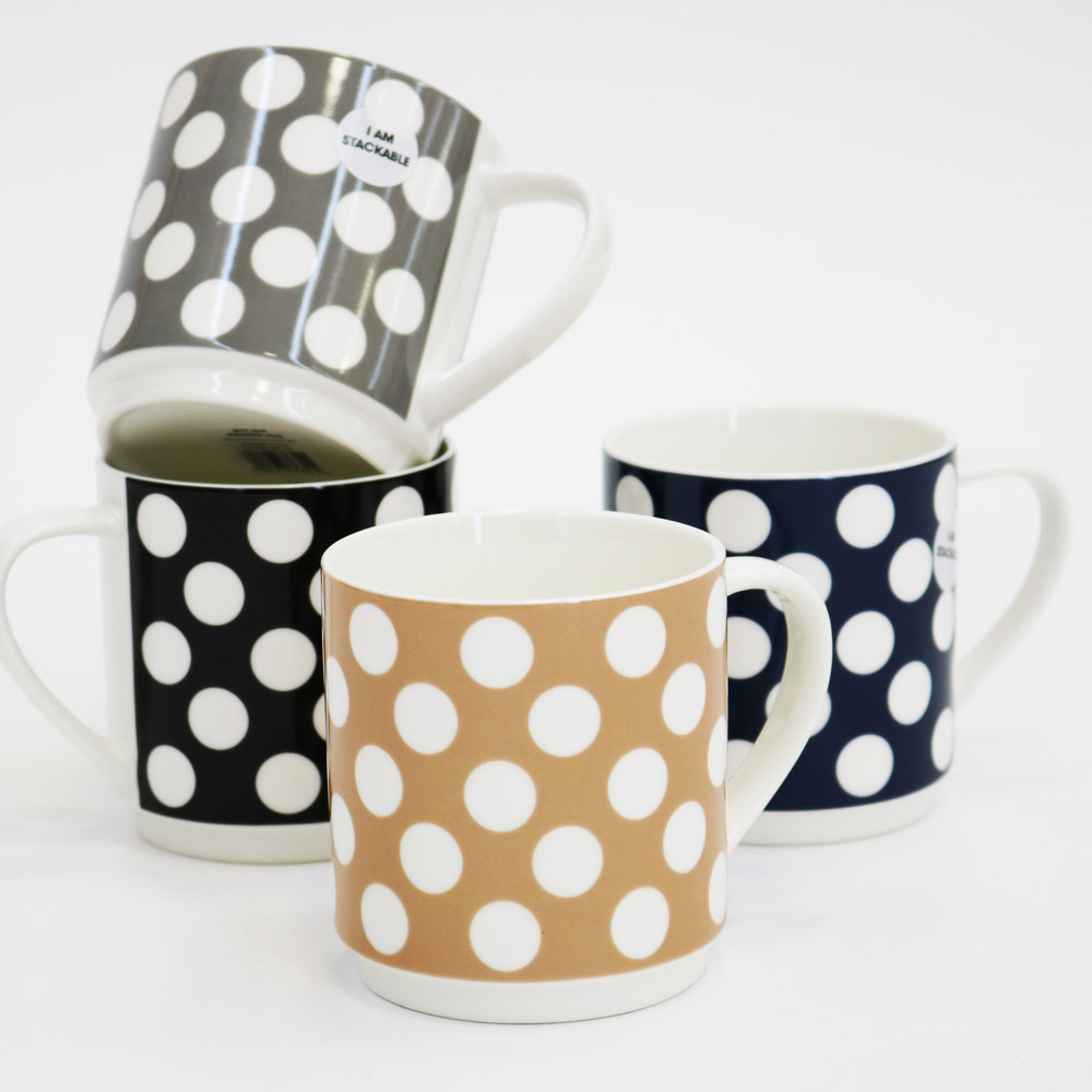 Stackable dot mugs