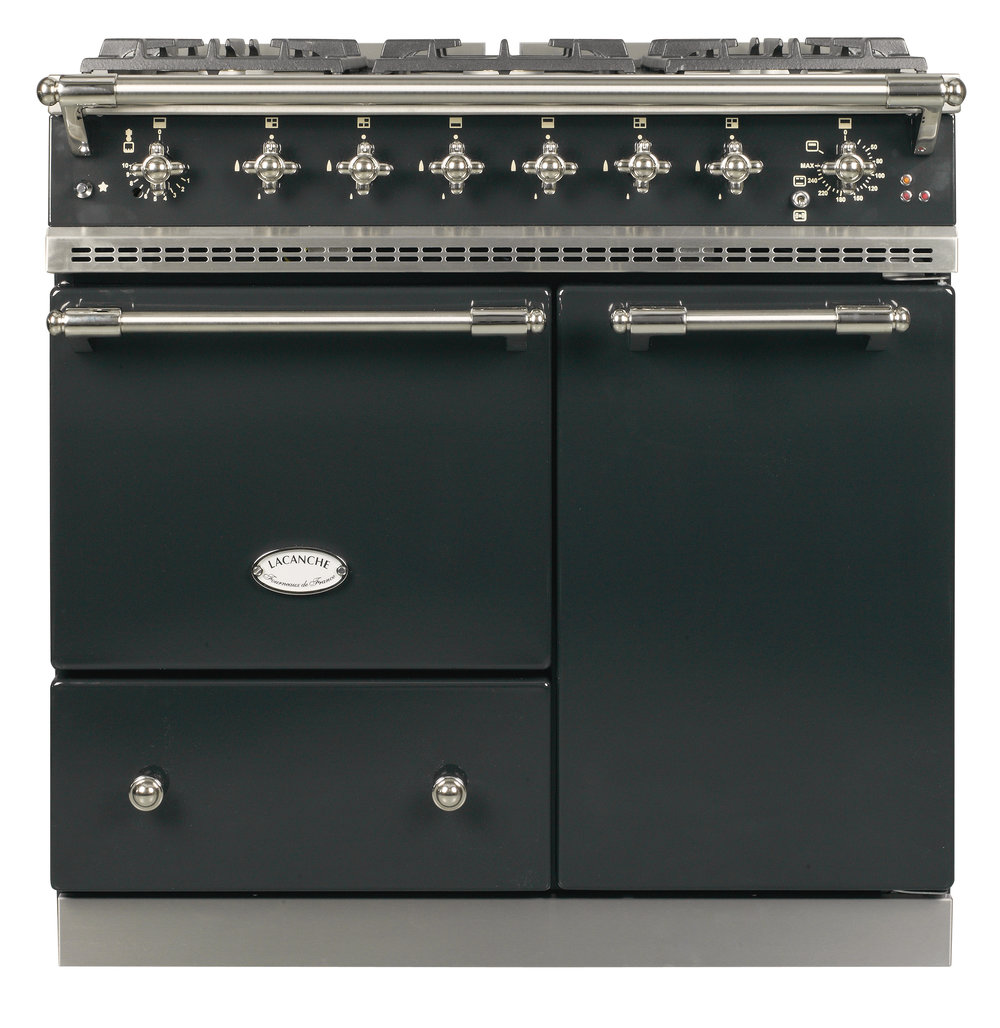 Beaune in Anthracite with Nickel Trim