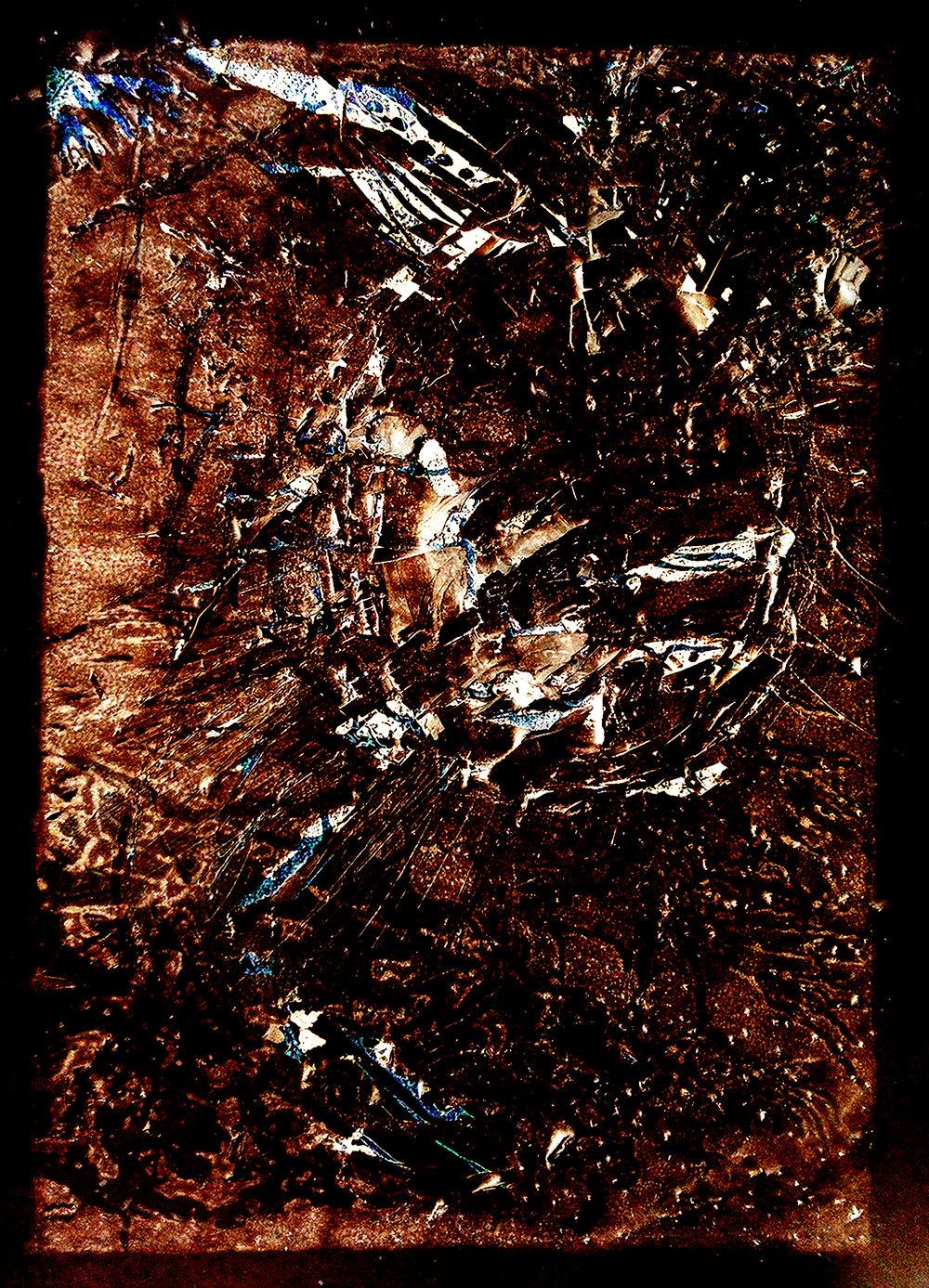 Disintegration Series: 'film negative' (2018) digitally manipulated print (A4)