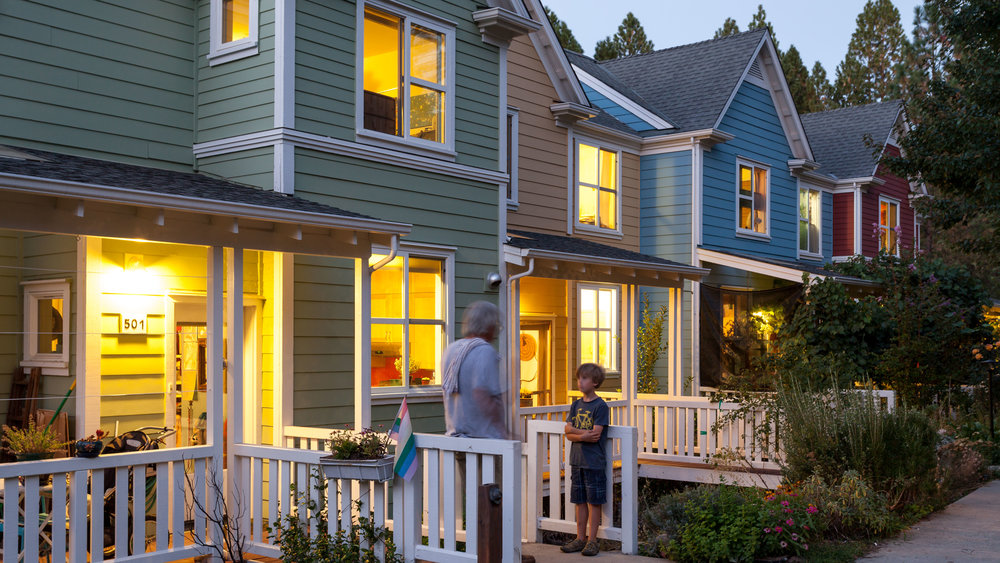 Image of Nevada City Cohousing. Architecture by McCamant & Durrett Architects