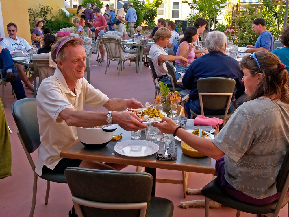 Breaking bread together is at the heart of cohousing.