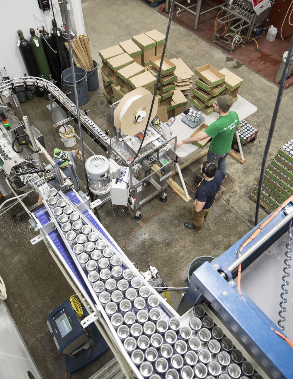 Canning line.