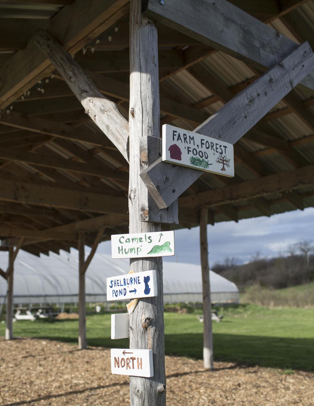 Farm signs.