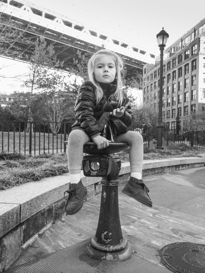 Our city kid in Pirate Park. DUMBO, Brooklyn.