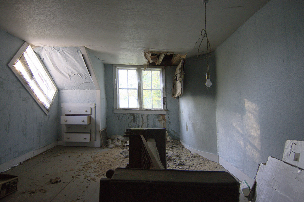 Abandoned house interior.