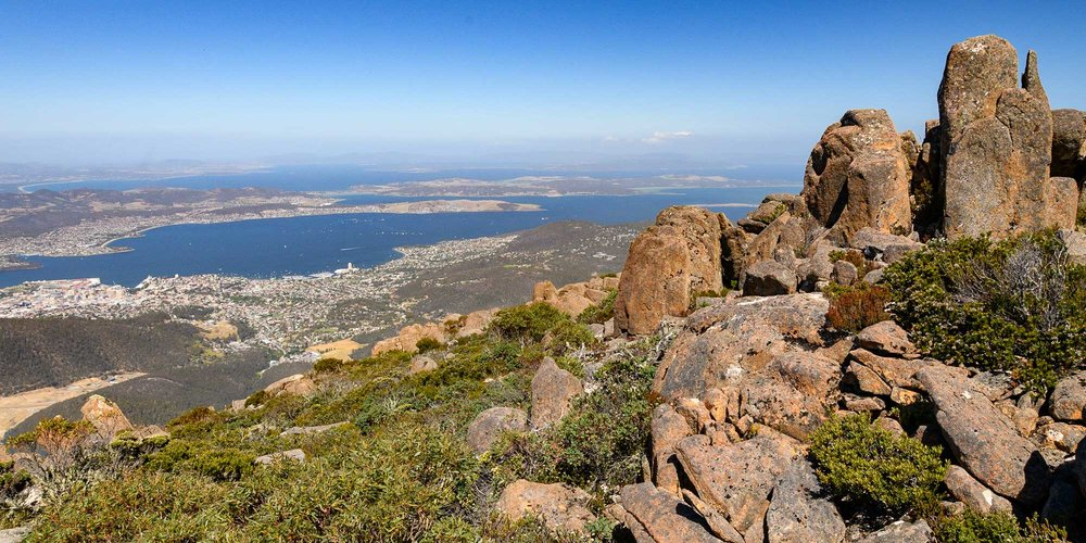 Hobart from the summit of Mt Wellington:Nikon D850 & 24-85mm,1/640 at f/11, ISO 400