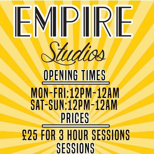 NHC MUSIC Registered band? Then you get 20% off studio time at Empire Studios!     www.facebook.com/EmpireStudiosGlasgow/
