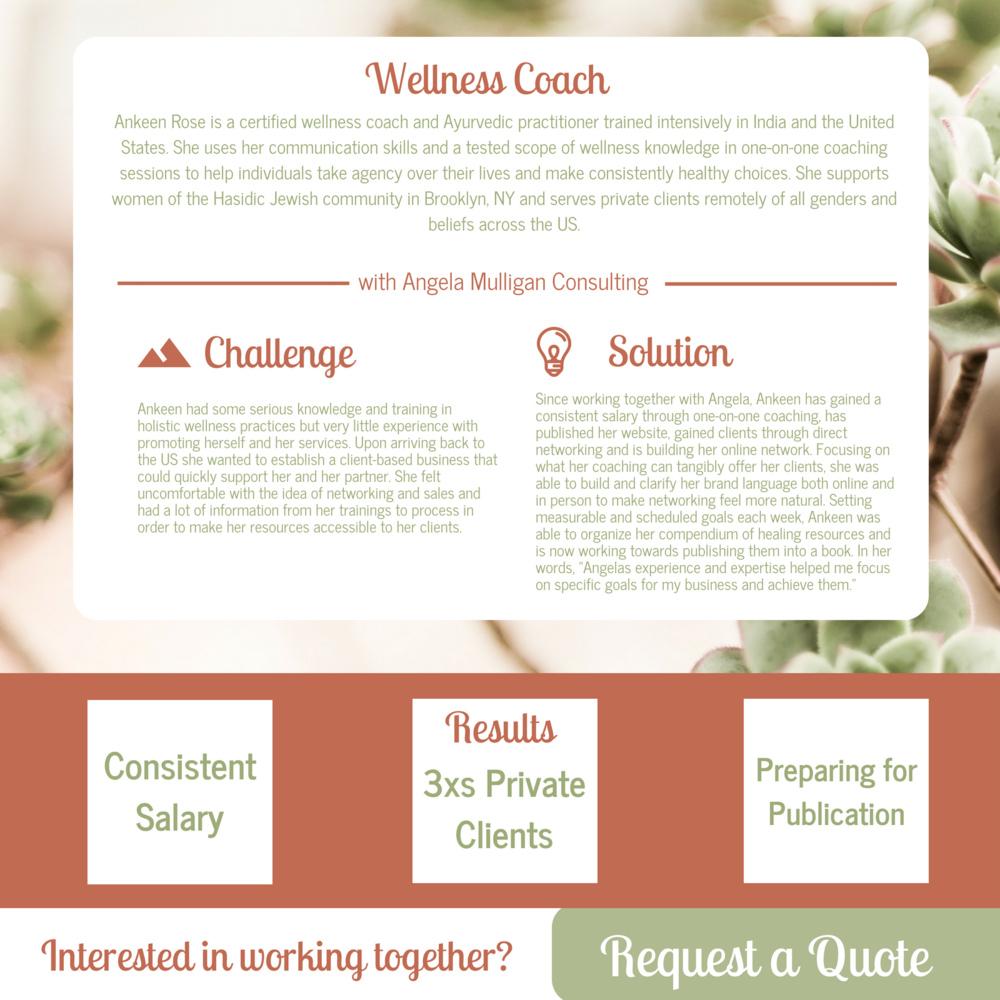 Wellness Coach Case Study Angela Mulligan