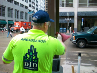 A Minneapolis ambassador, an example of the role of a WBID safety ambassador