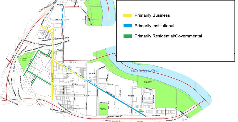 Map of the proposed West Bank Improvement District area