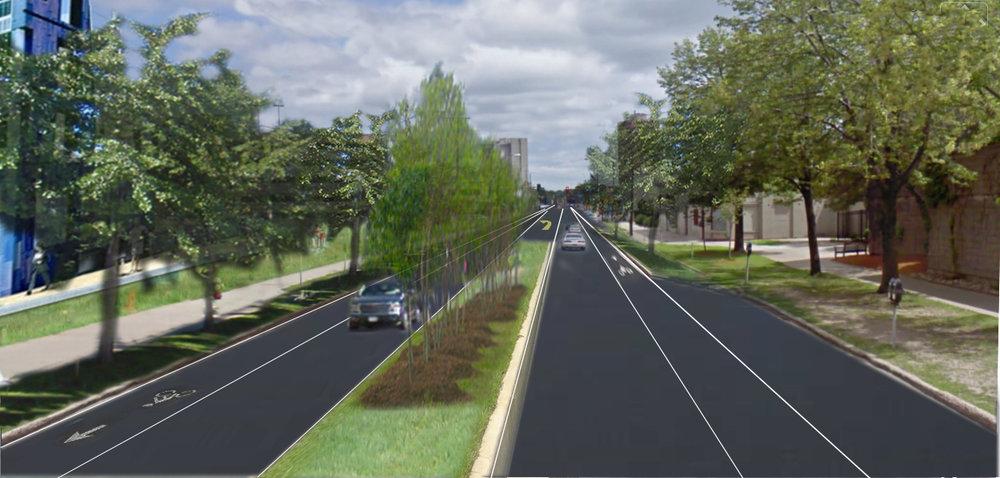 Riverside Avenue median design