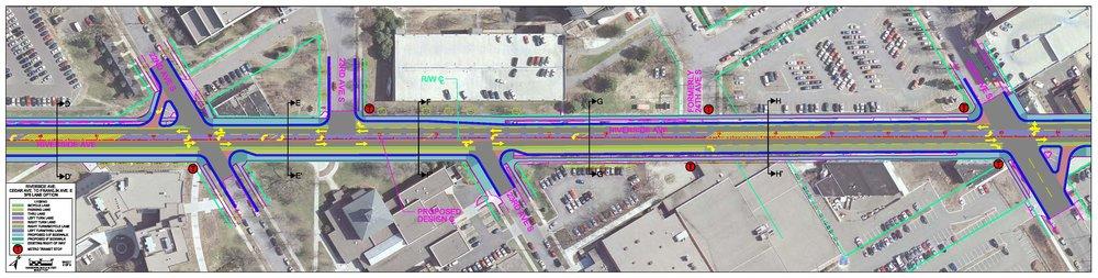 Design for Riverside Avenue streetscape