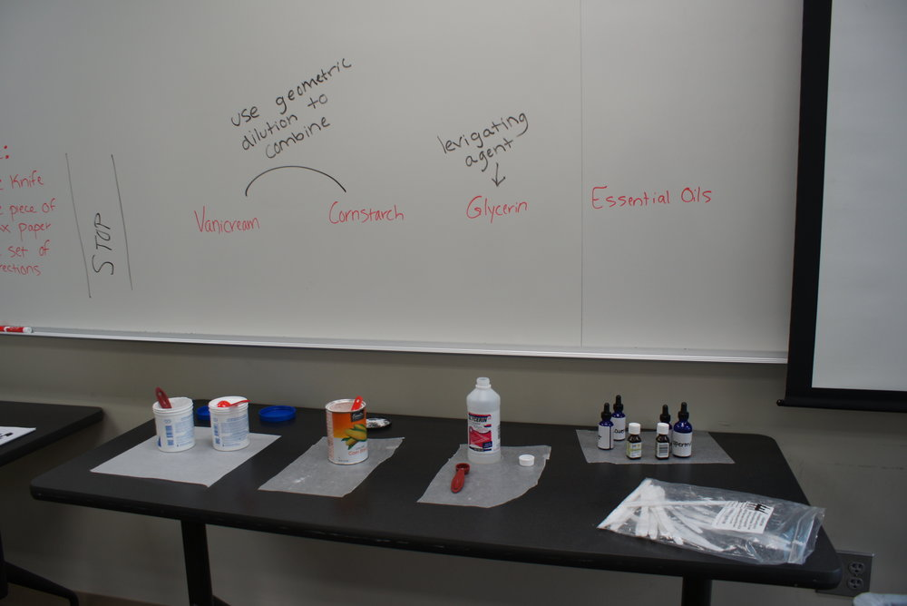 Shannon Greely, Recruiting Coordinator at the University of Minnesota College of Pharmacy, talked to the students about the timeline for pharmacy school and what to expect in a pharmacy career. Students also completed a hands-on compounding activity using Vanicream, cornstarch, and glycerin to create a custom medication. Jenny Kelley, Clinical Care Supervisor and Asthma Program Coordinator at Hennepin County Medical Center, presented information about the significance of asthma and pursuing a career around asthma.