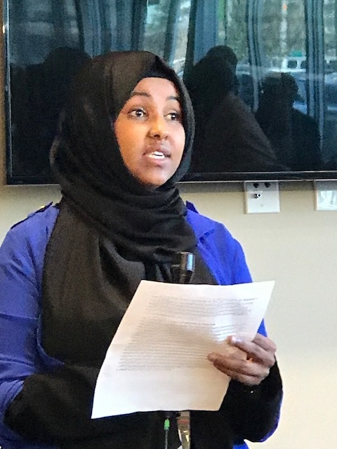 Irah Hashi, Opportunity Center participant