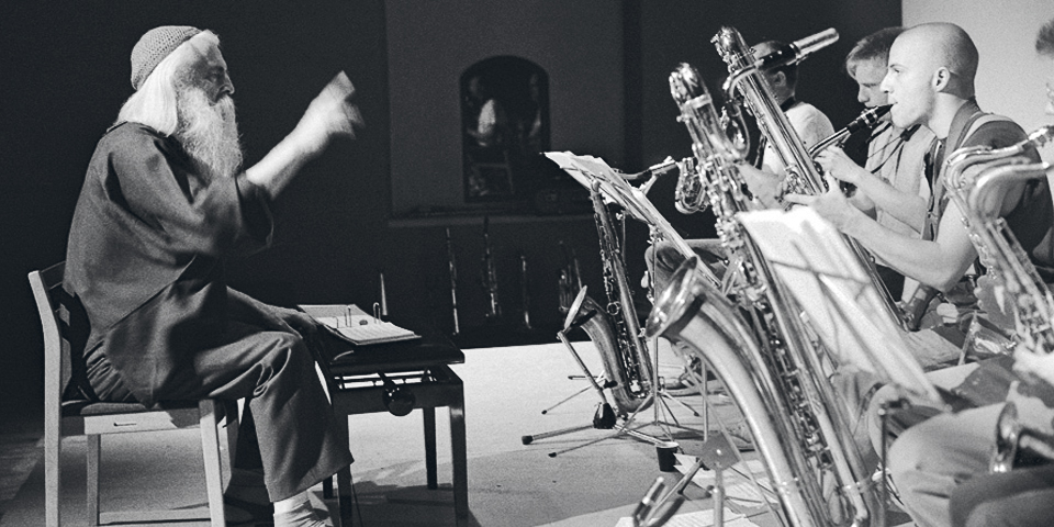 Moondog during recordings for Columbia Records 1969