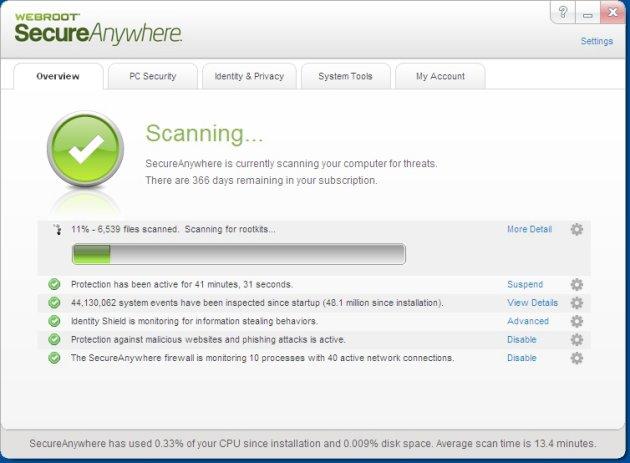 webroot secureanywhere antivirus working key