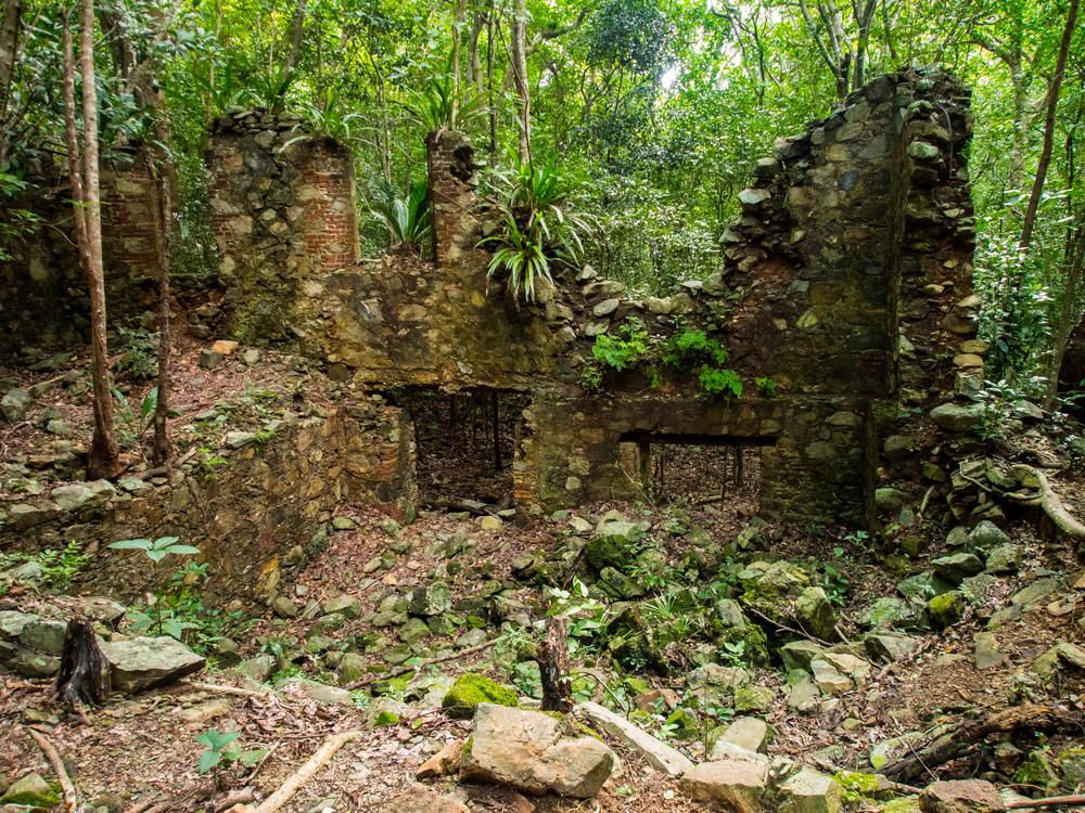 Ruins at Josie Gut Sugar Estate