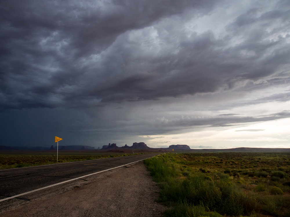 Monument Valley on the horizon.
