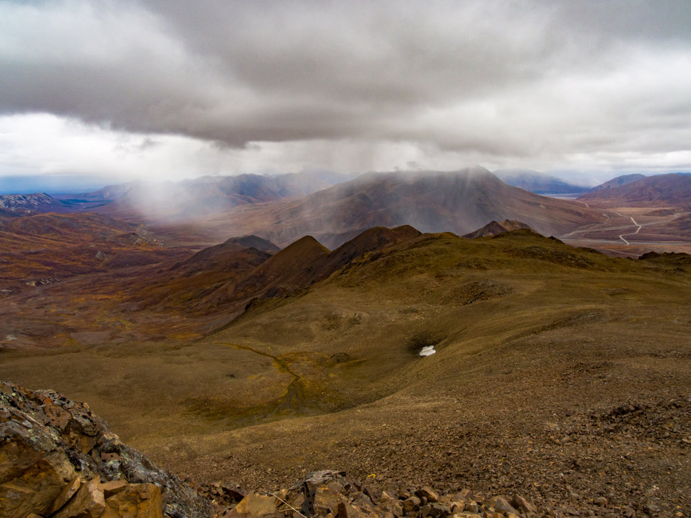 The view from the summit of Thoro.