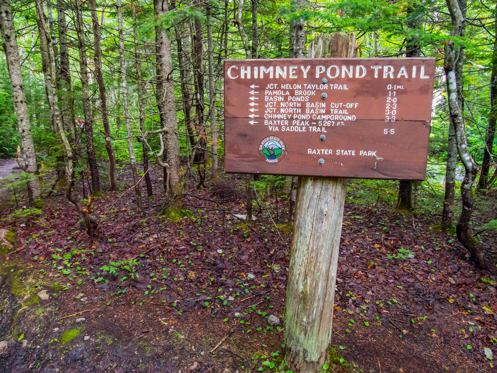 Chimney Pond trailhead