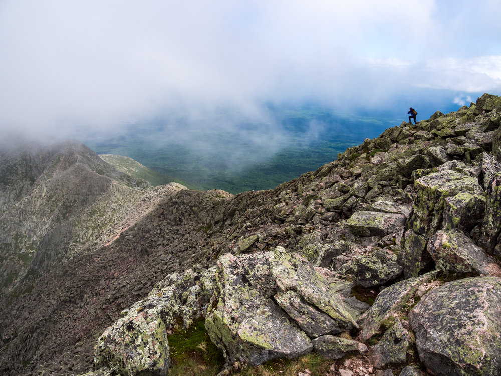 A view from the South Peak of Katahdin.