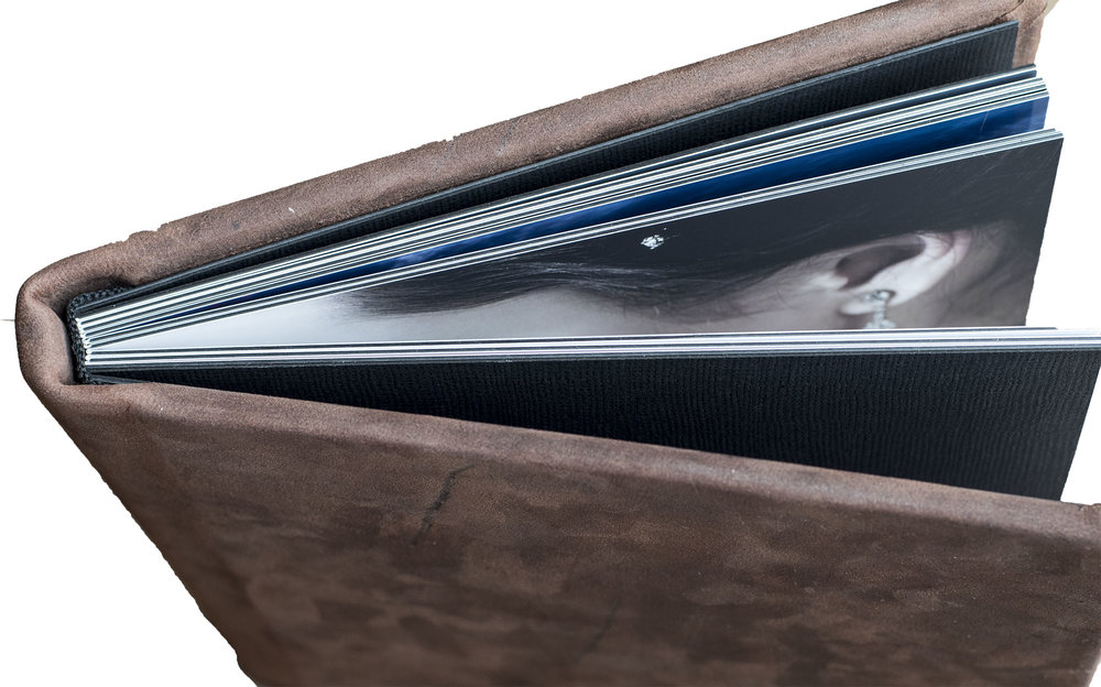 The Photo Album  Hard genuine leather cover, printed with the new Flush Mount Print.