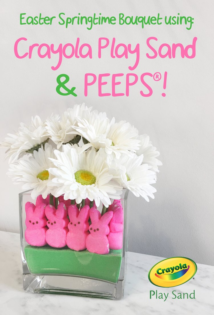 Create a Colorful Easter Bouquet with Crayola Play Sand and ...