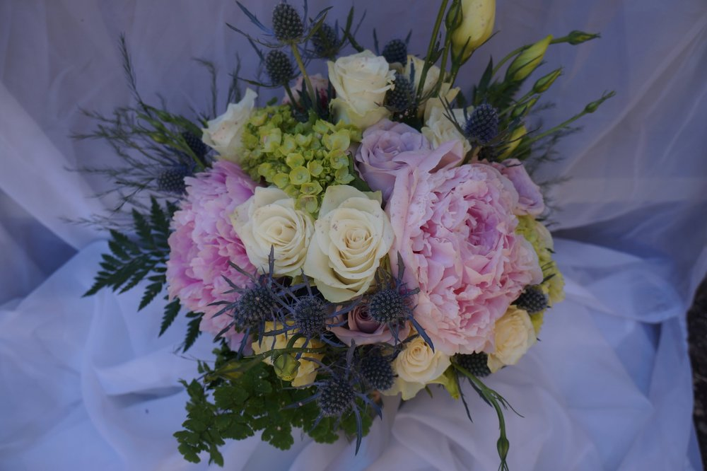 Unicorn - Using Peony, Roses, Hydrangea, Lisianthus, Ferns, and Eryginum