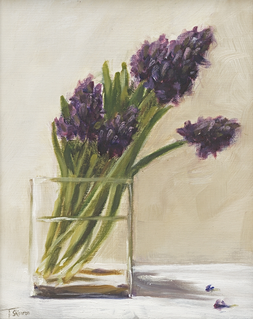 Purple Hyacinths - 9 x 12 oil on prepared paper mounted on panel