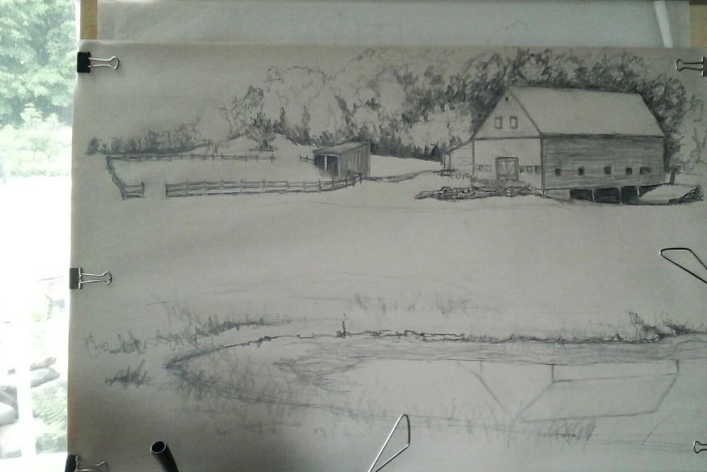 A Preliminary sketch onsite.