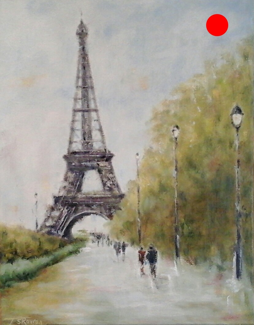 """Copy of Paris In May - 11"""" x 14"""" Oil on canvas panel"""