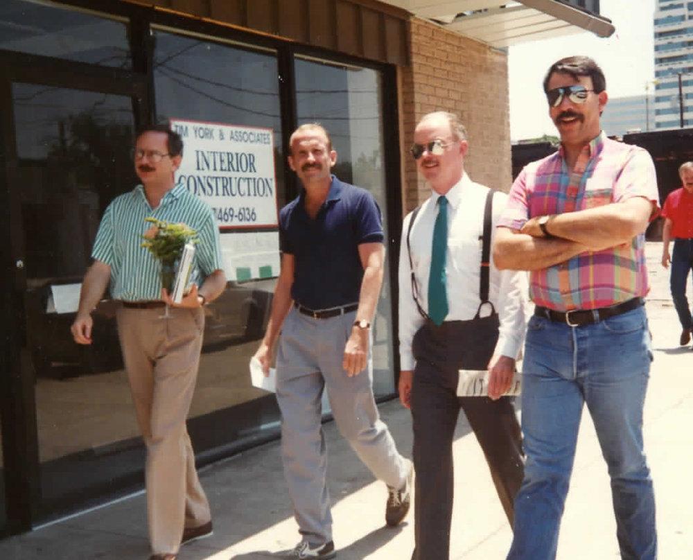 [Left to right]. William Waybourn. - Bill Nelson. - Joe Desmond. - Ken Flanagan