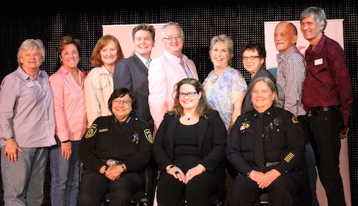 [Front row] Sheriff Lupe Valdez, Mica England, Dallas Police Major Barbara Hobbs  [Back row] Various member of The Dallas Way board of directors.