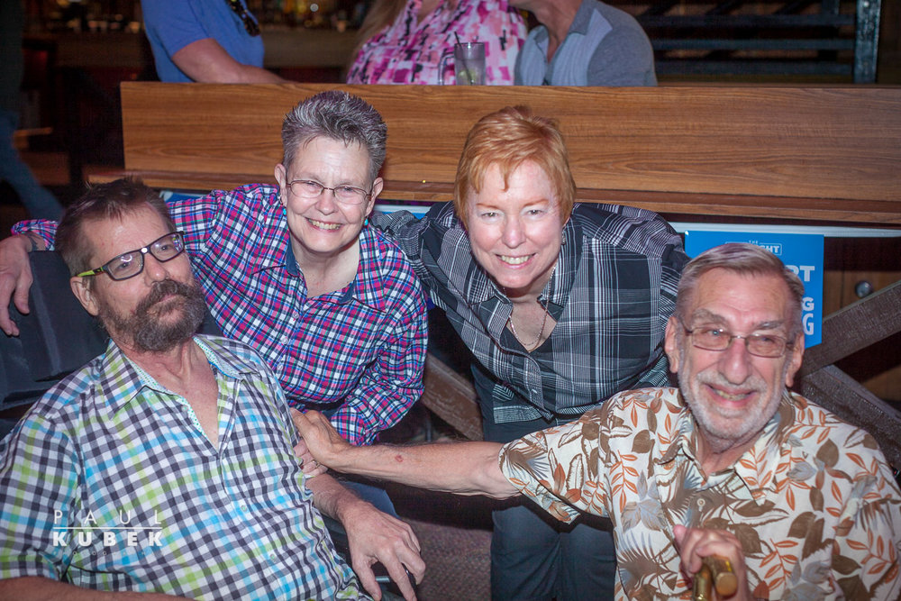 (Left to Right) Bruce Monroe, Louise Young, Viv Armstrong, Mike Grossman
