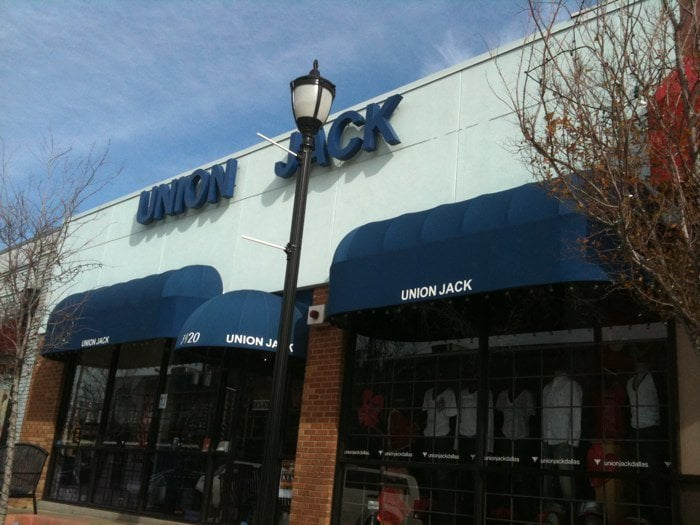 The storefront of Union Jack on Cedar Springs                                      [Photo: Courtesy of Dallas Voice]