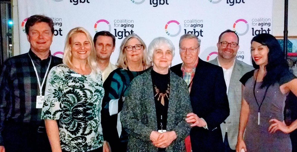 Betty King (center with necklace) is now an active member of Coalition for Aging LGBT in Dallas