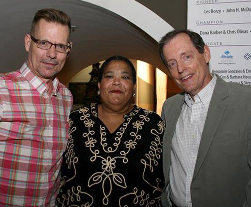 Members of the first board of directors of The Dallas Way, Bruce Monroe, Ann Brown, Mike Anglin.