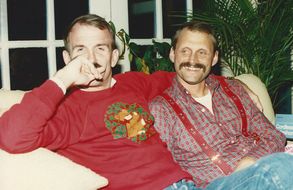 Bill Nelson & Terry Tebedo at home, 1987