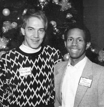 Don Maison in 1989 with prominent Dallas AIDS activist Phil Morrow