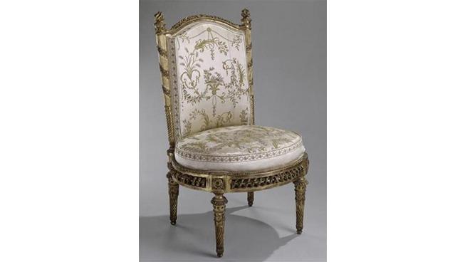 Chaise de François-Toussaint Foliot pour le Belvédère de Trianon (©musées de Versailles et de Trianon).