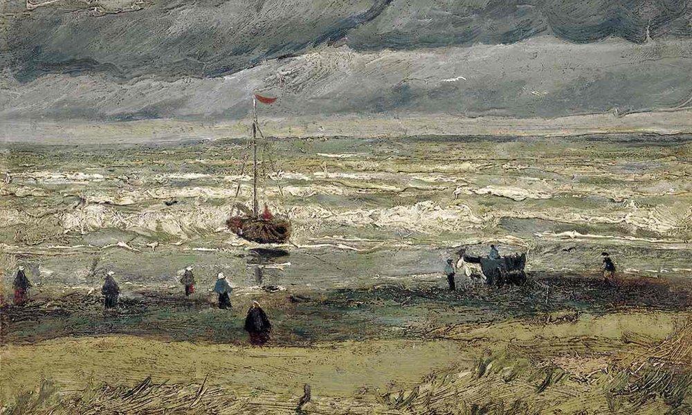 Vue de la mer à Scheveningen, Van Gogh, 1
