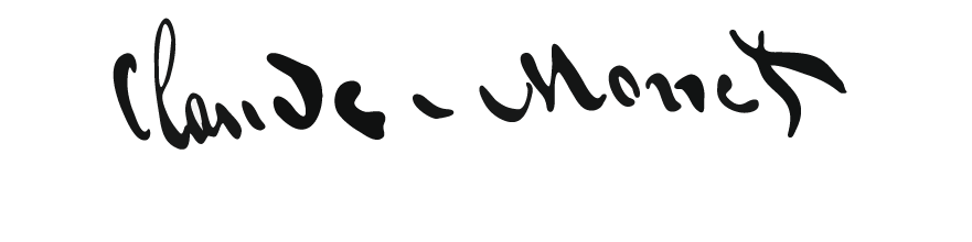 La signature de Claude Monet