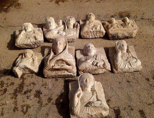 Bustes palmyrènes confisqués par la  Direction générale des antiquités et des musées