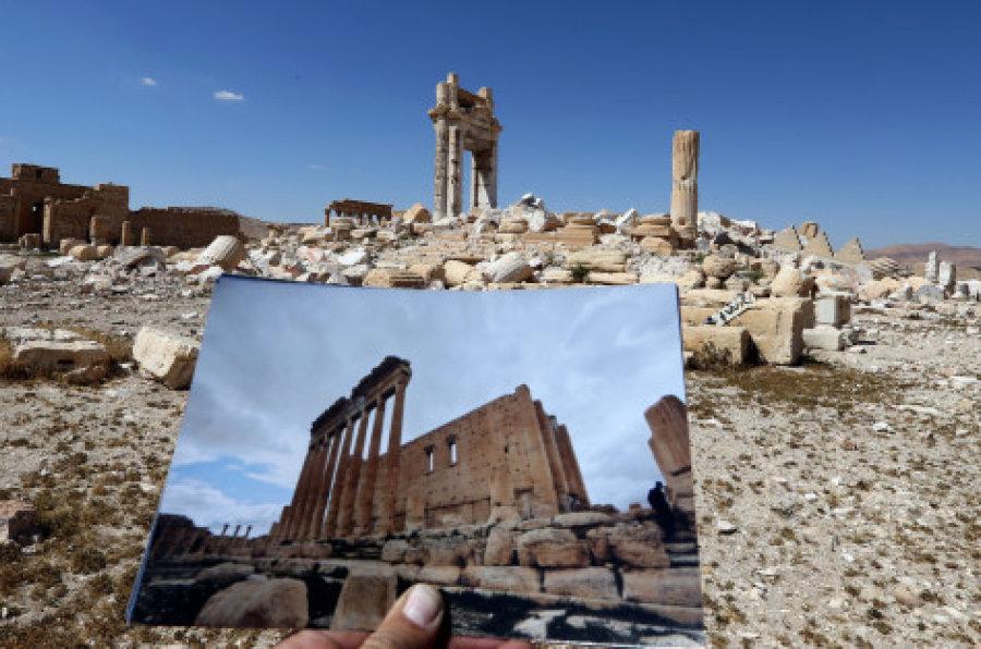 La cité antique de Palmyre avant et après l'occupation  | AFP