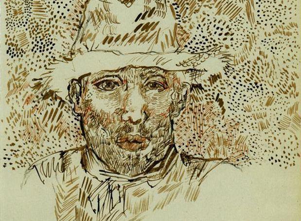 Autoportrait, l'un des dessins à l'authenticité contestée - Collection particulière, Le Seuil