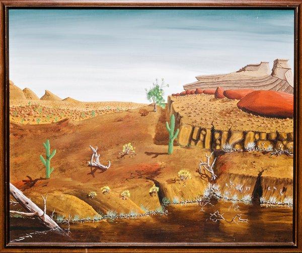 La toile incriminée, signée Peter Doige